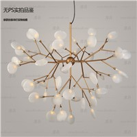 New Nordic creative firefly Pendant lamp personality dining room living room LED tree branch Pendant lights