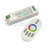 1pcs Remote+24A  4x RGBW Controller, 2.4G 4-Zone Wireless RF Touch RGBW LED control Strip,14key Aluminum infrared controller