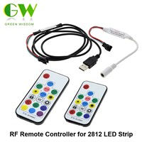 Dream Color RF Remote Controller 14Key / 17Key With DC Connector And USB Connector DC5V-24V For WS2812 WS2811 LED Strip
