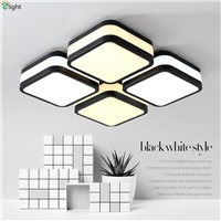 Modern Lustre Acrylic Led Chandeliers Luminarias Simple Metal Bedroom Dimmable Led Ceiling Chandelier Lighting Lights Fixtures