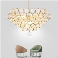 Modern Nordic Metal Glass Bubble Ceiling Chandelier Lighting Fixtures For Kitchen Dinning Room Living Room Hanging Lamp