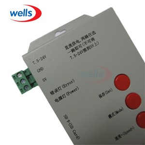 T1000S Full Color Reject cloning controller with 256 SD card For WS2811 WS2801 WS2812B LPD8806 6803 1903 Digital LED controller