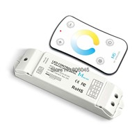 M5+M4-5A LED Color Temeprature CT Controller M5 RF Wireless Remote + DC5-24V 18A 6A*3CH Controller for dual white strip