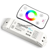 M3+M4-5A RGB LED Controller M3 RF Wireless Remote + DC5-24V 18A 6A*3CH Receiving Controller for 5050 RGB LED Strip