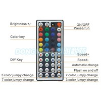 12V 72W white box changing colors led strip controller, rgb IR remote controller, 44key infrared controller