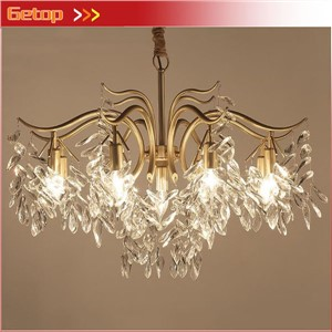 American Luxury Crystal Chandeliers Pastoral Crystal Lights Living Room Bedroom Chandeliers Post Modern Restaurant Crystal Lamp