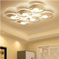 Surface mounted Modern Led Chandelier For Living Room Bedroom Dining Room Home Deco  Aluminum Ceiling Chandelier Fixtures