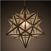 Dia52cm American Vintage Iron Tiffany Led Pendant Chandelier Lighting Lustre Clear Glass Dining Room Led Foyer Chandeliers Lamp