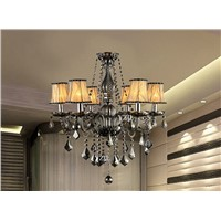 Smoked chandelier light crystal chandelier bedroom dining room living room modern simple candle chandelier crystal light