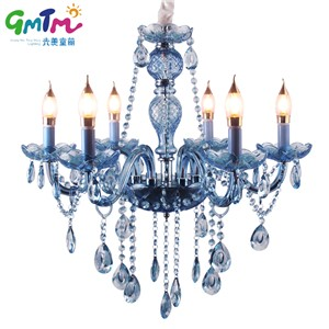 Blue K9 Crystal Chandelier Lustre Crystal Chandeliers Lustres De Cristal Chandelier LED Without Lampshade Light Bule