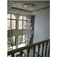 Duplex Building Stair Crystal Chandelier Villa Foyer Shopping Mall Hotel Large Chandelier Bubbles Chandeliers Light Lighting