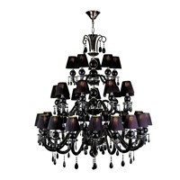 home lighting decorative black chandelier large Crystal chandelier for church hotel lamp crative lighting vintage chandeliers