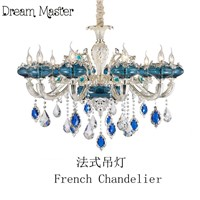 European luxury atmosphere crystal chandelier living room restaurant  French villa  duplex building  glass chandelier