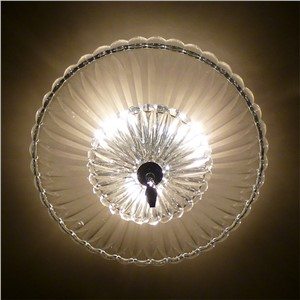 FUMAT Round Modern Clear Glass Crystal Chandelier Ceiling Artistic Lights For Living Room Brief Fashion LED Glass Chandeliers