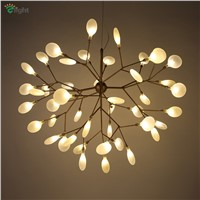 Modern Metal Branch Led Pendant Chandelier Light Lustre Acrylic Dining Room Led Chandeliers Lighting Led Hanging Lights Fixtures