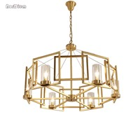 Modern Iron Chandelier Light Simply Fashion Hanging Lamp for Restaurant Dining room Contemporary Luminaire Lighting Fixture