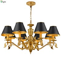 Modern Lustre Copper Led Pendant Chandeliers Lamp Novelty Brass Dining Room Led Chandelier Lighting Led Hanging Lights Fixtures