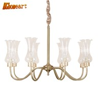 HGhomeart Chandelier American chandelier rustic chandelier dining room living room bedroom study retro glass European chandelier