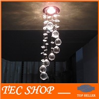 Best Price 3W LED Crystal Chandelier Modern Crystal Lamps Aisle Hallway Lights Diameter 85mm x Height 300mm
