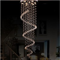 Modern Clear LED Lustre Crystal Chandelier Ceiling Lamp Home Decor Suspension Pendant Lamp Fixture Light