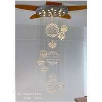 Duplex Building Stair Crystal Chandelier Villa Foyer Shopping Mall Hotel Large Chandeliers Modern Chandelier Light Lighting