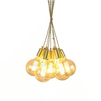 6/7/8/9/10/12/14 heads copper chandelier edison adjustable fabric lighting fixture brass ceiling chandelier for home decoration