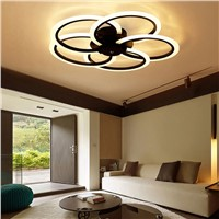 Surface mounted modern led ceiling chandelier lights for living room bedroom