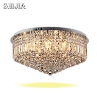 Modern LED Round Crystal Ceiling Lights for bedroom Foyer Hotel hall Ceiling Lamp