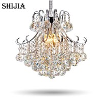 Modern Luxury LED Crystal Chandelier Restaurants Bedroom Crystal Lamp Fashion Creative Living Room Lamp Aisle Crystal Light