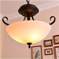 Huiteman Gold Chandelier Lighting Modern Simple Black Glass Lampshade Lamps For Loft Stairwell Kitchen Bedroom LED Chandeliers