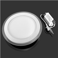 10pcs Dimmable LED Panel Downlight 6W 12W 18W Round glass ceiling recessed lights SMD 5630 Warm Cold White led Light AC110V/220V
