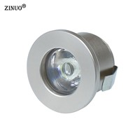ZINUO 1PC 1W 3W Mini Led Cabinet Lamps Recessed Led downlight AC85-265V Spot light lamp include led driver For Kitchen Wardrobe