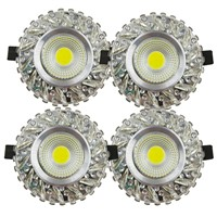 Crystal COB 3W Led Downlights Recessed Ceiling Spot Light Lamps Embedded LED Downlights Home Decoration Light