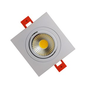 50pcs/lot Square Dimmable COB 3W 5W 7W Led downlight spot led Super Bright Recessed LED Dimmable Downlight LED light Ceiling