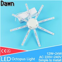 Modified LED light board LED Celling Lamp Accessory5730SMD 12W/16W/20W/24W high bright octopus Round kitchen lamp bedroom Tube