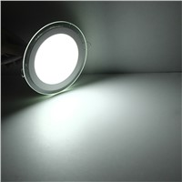 6W 12W 18W LED Panel Downlight Round Glass Cover Lights High Bright Ceiling Recessed Lamps AC85-265 + Driver