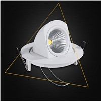 1pcs Dimmable LED Trunk Downlight COB Ceiling 10W AC85-265V Adjustable recessed Super Bright Indoor Light cob led downlight