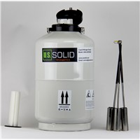 U.S. Solid 10 L Liquid Nitrogen Container Cryogenic LN2 Tank Dewar with Straps Liquid Nitrogen Tank 6 Canisters 80 days