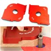 1Set Radius Quick-Jig Router Table Bit Corner Jig Templates with Box Mayitr For Woodworking Tools