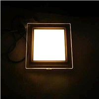 Energy Saving LED Panel Downlight Dimmable Glass LED Recessed Ceiling Lamp 6w 12w 18w Square Sopt Down Lights Kitchen Decro Bulb