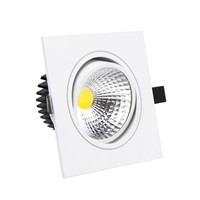Super Bright Recessed LED Dimmable Square Downlight 7W 9W 12W 15W COB Ceiling Recessed Plafond Lamp Indoor Light AC110V 220V