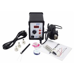 858D+ SMD ESD Soldering Station LED Digital Solder Iron Hot Air GUN Blowser Better Than YOUYUE