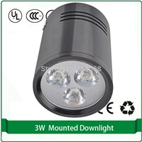 surface mounted led downlights light black color 3W 5W 7W 9W 12W high power led lens led downlight 12w
