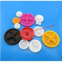 13 pcs/lot different type Concave wheel DIY Parts Model of the wheel Plastic mini Belt Wheel Sets for Model Fitting