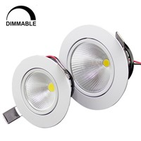 1pcs home led cob epistar recessed downlight dimmable 5w / 10w  led kitchen downlight 110v 220v