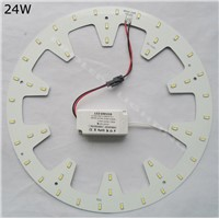 Wholesales 110V 120V 220V 230V DIY kits 24W surface mounted led ceiling light round PCB circular tube led down light LED 2D TUBE
