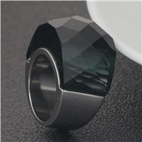 Fashion Big Crystal CZ Rings For Women And Mens Stainless Steel Ring Wedding Jewelry Dropshipping