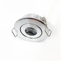 50pcs/lot 1w 3w  cabinet LED Mini downlight 85-265V silver shell ceiling recessed light with LED Driver warm/nature white