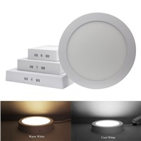6W 12W 18W Round / Square Led Panel Light Surface Mounted Led Downlight lighting 110-240V + Drivers