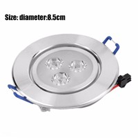 3W LED Ceiling lighting spots Light Recessed Downlight Spot Lamp Bulb Lights Driver Anti-rust Anti- Corrosion Optimized Design
